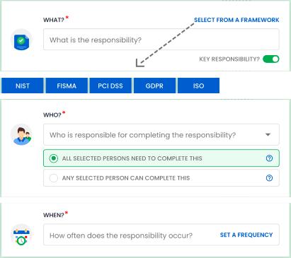 Select from standard frameworks